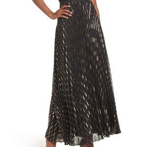 Eliza J Chiffon Black and Glitter Long Skirt
